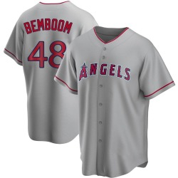 Anthony Bemboom Los Angeles Angels Men's Replica Silver Road Jersey -