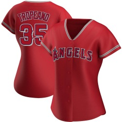 Nick Tropeano Los Angeles Angels Women's Replica Alternate Jersey - Red