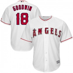 Brian Goodwin Los Angeles Angels Men's Authentic Majestic Cool Base Home Jersey - White