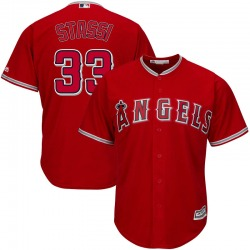 Max Stassi Los Angeles Angels Youth Replica Majestic Cool Base Alternate Jersey - Scarlet